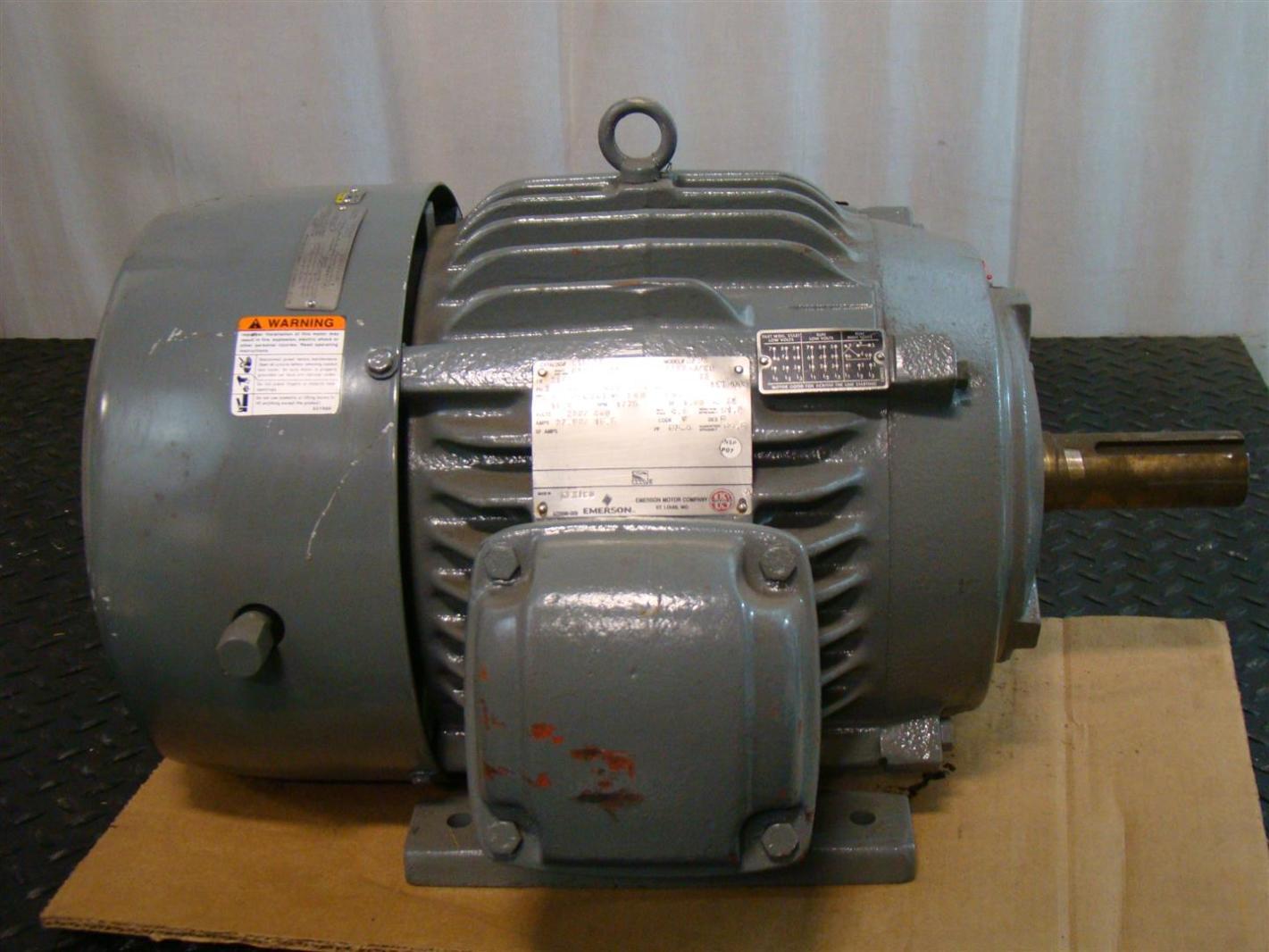 Us Motors Emerson Electric Motor 15hp 230 460v 3 1775rpm