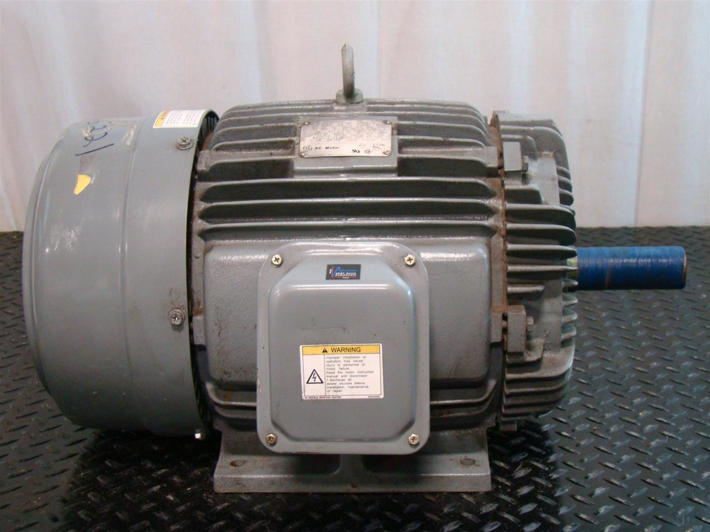 Ge Ac Motor 15hp 230 460v 1760rpm Ph3 34 8 17 4amps