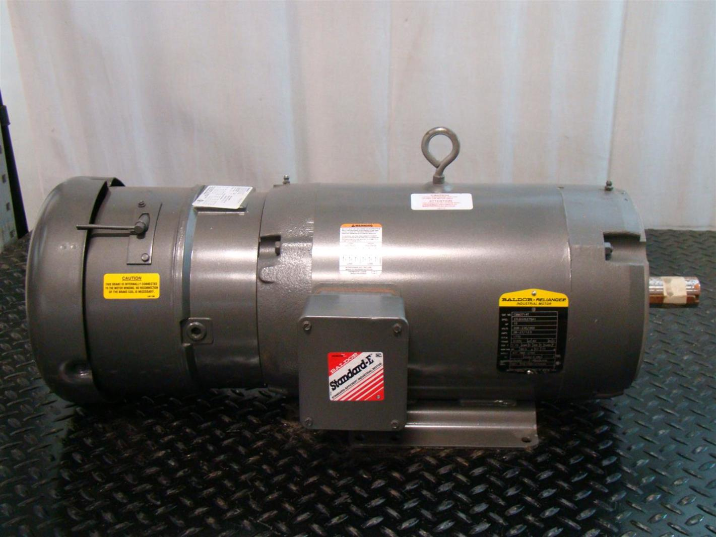 Baldor Reliancer 10hp Electric Brake Motor 230 460v