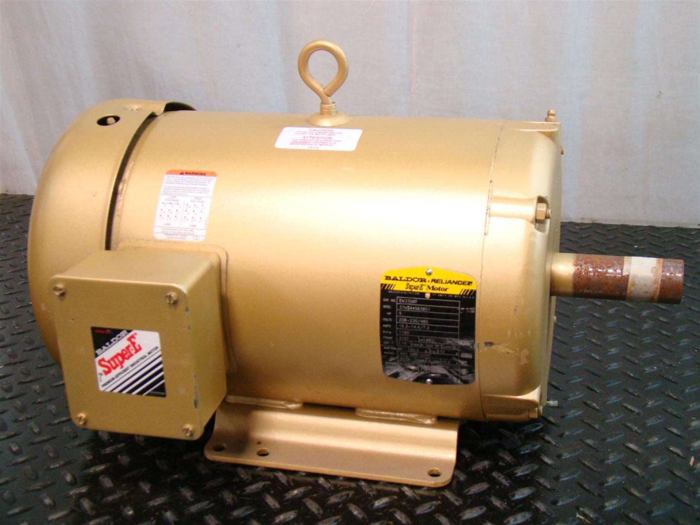 Baldor reliancer super e motor 5hp 230 460v 1160rpm for Baldor reliance super e motor