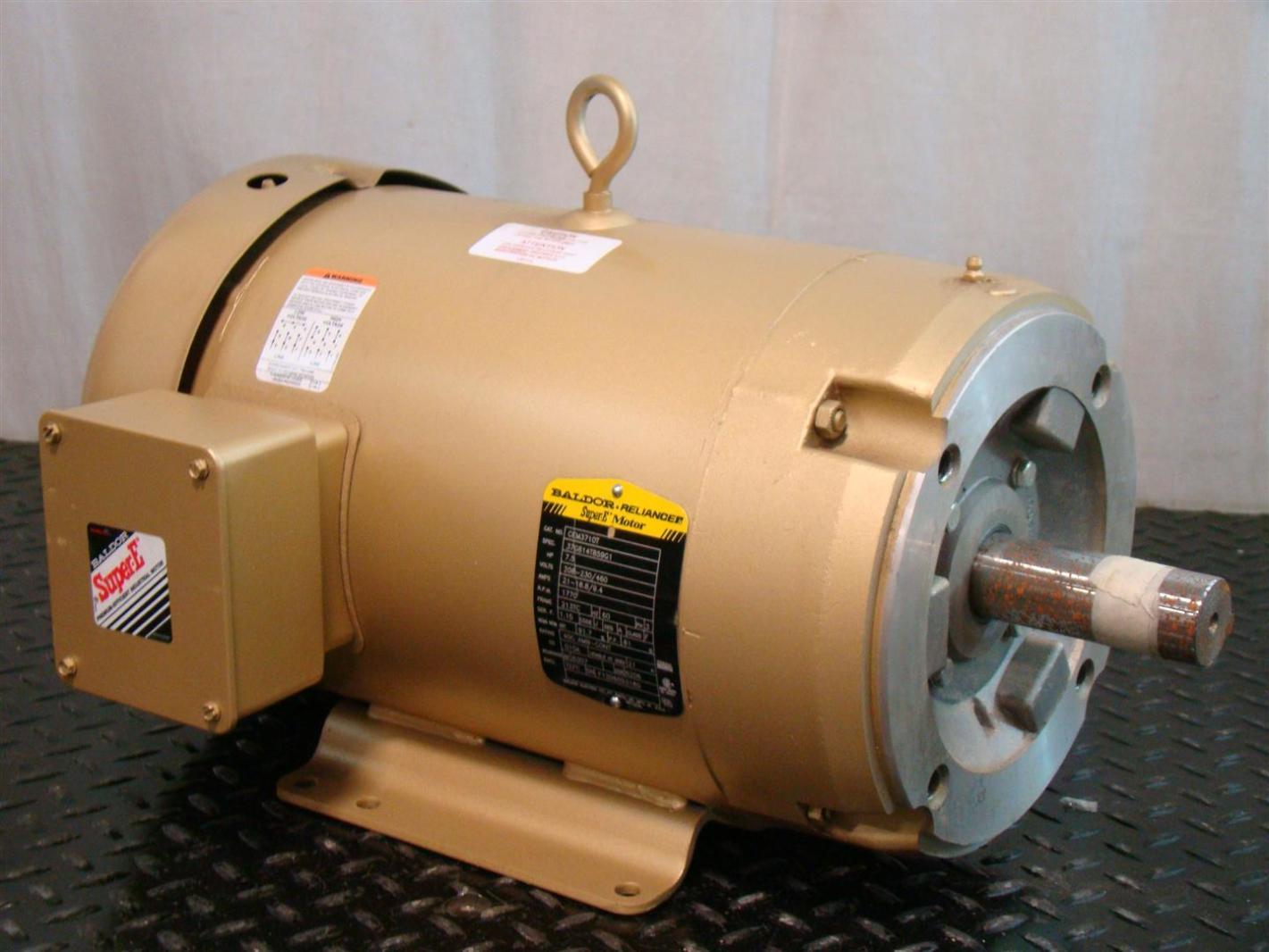 Baldor Reliancer Super E Motor 7 5hp 37g814t859g1 Cem3710t