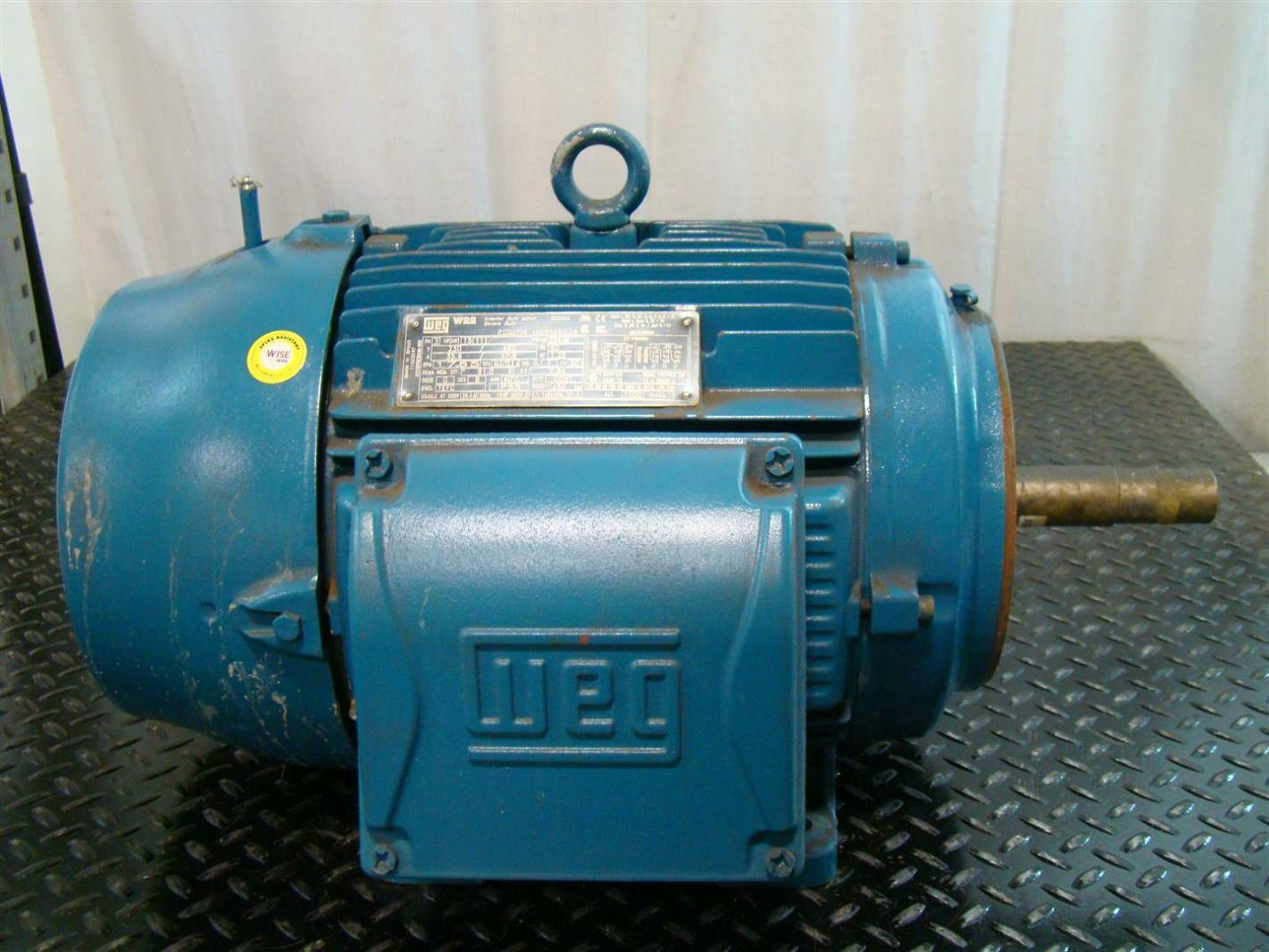Weg Electric Motor 15hp Ph3 230 460v 35 6 17 8a 1765rpm