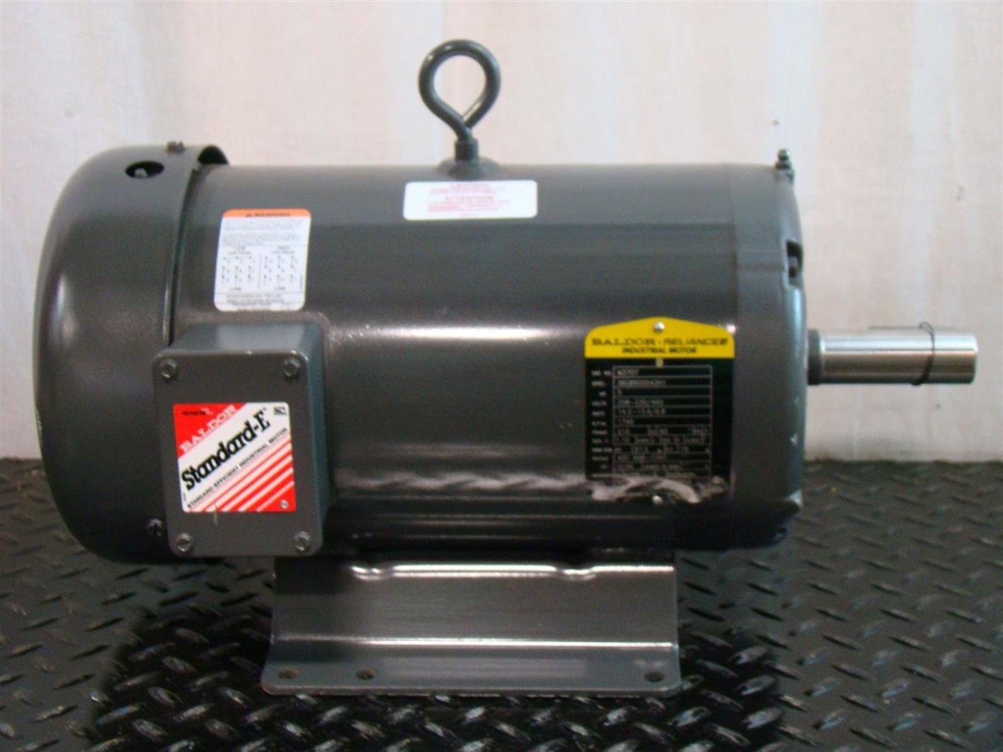 Baldor reliancer industrial motor 5hp ph3 1745rpm 230 460v for Baldor industrial motor parts