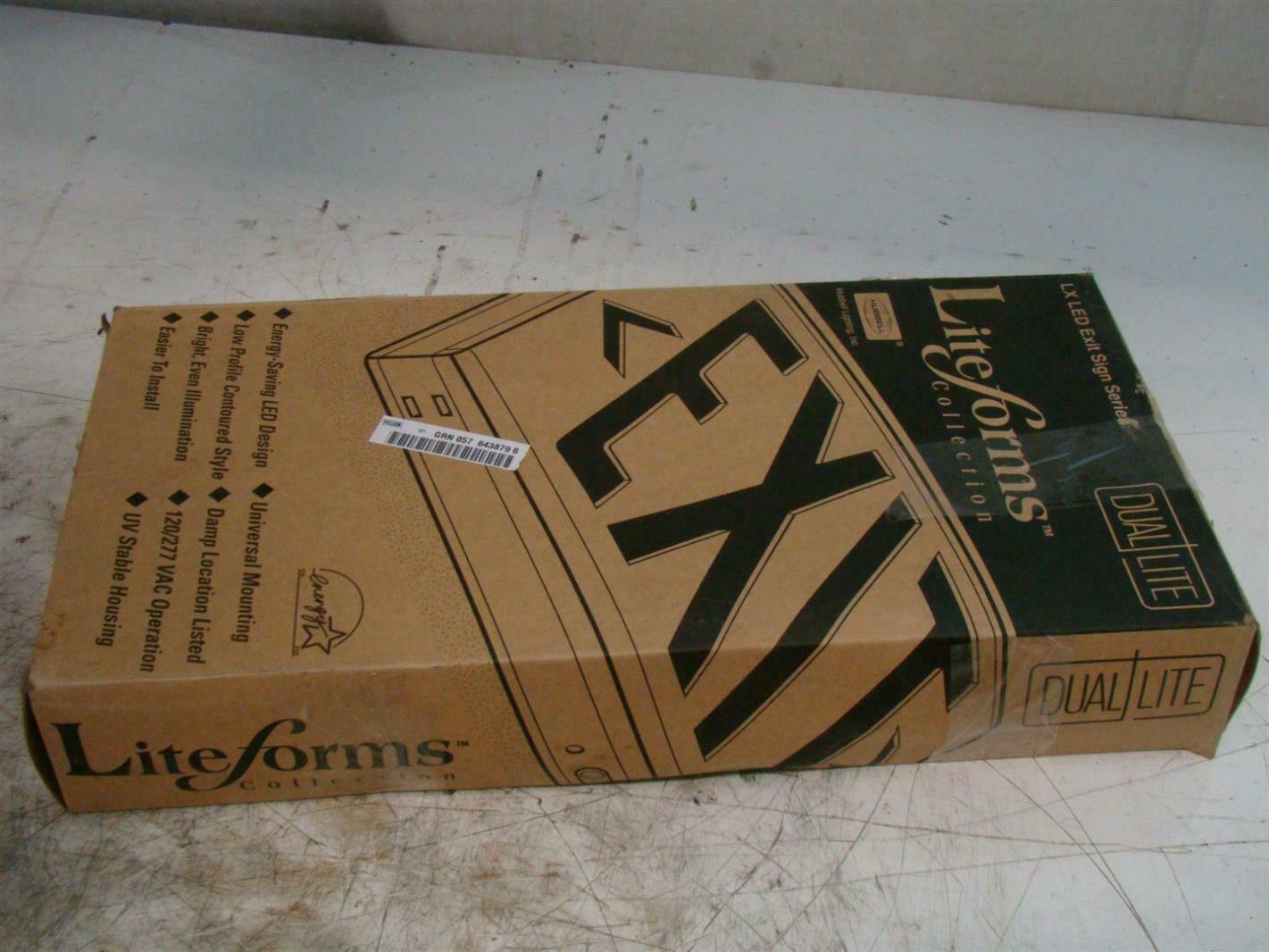 dual lite liteforms lx series led exit signs 120277vac lxurwe