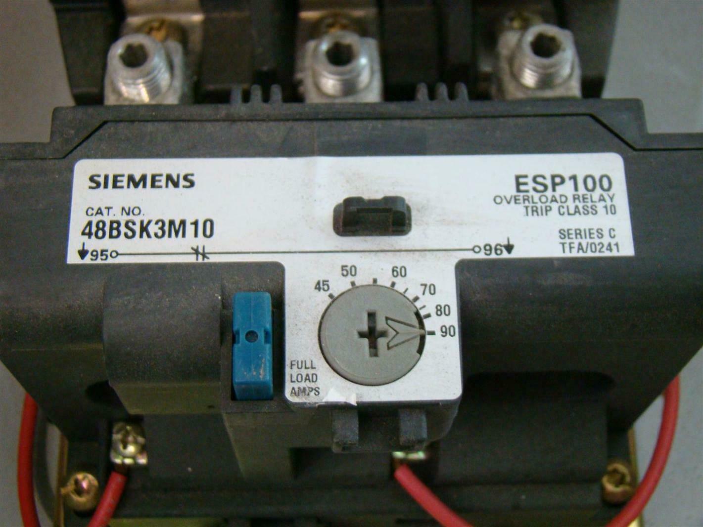 Siemenssize 3 motor starter magnetic starter 14hsk32bc51 for Siemens magnetic motor starter