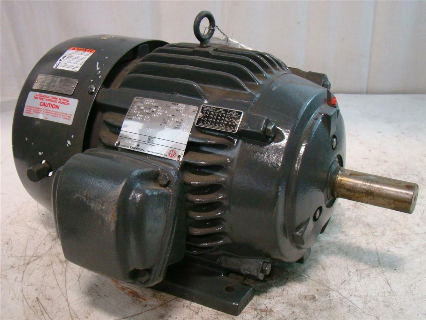 Emerson 15hp motor 230 460v ph3 3545rpm x15e1b af94 ebay for Emerson electric motor model numbers