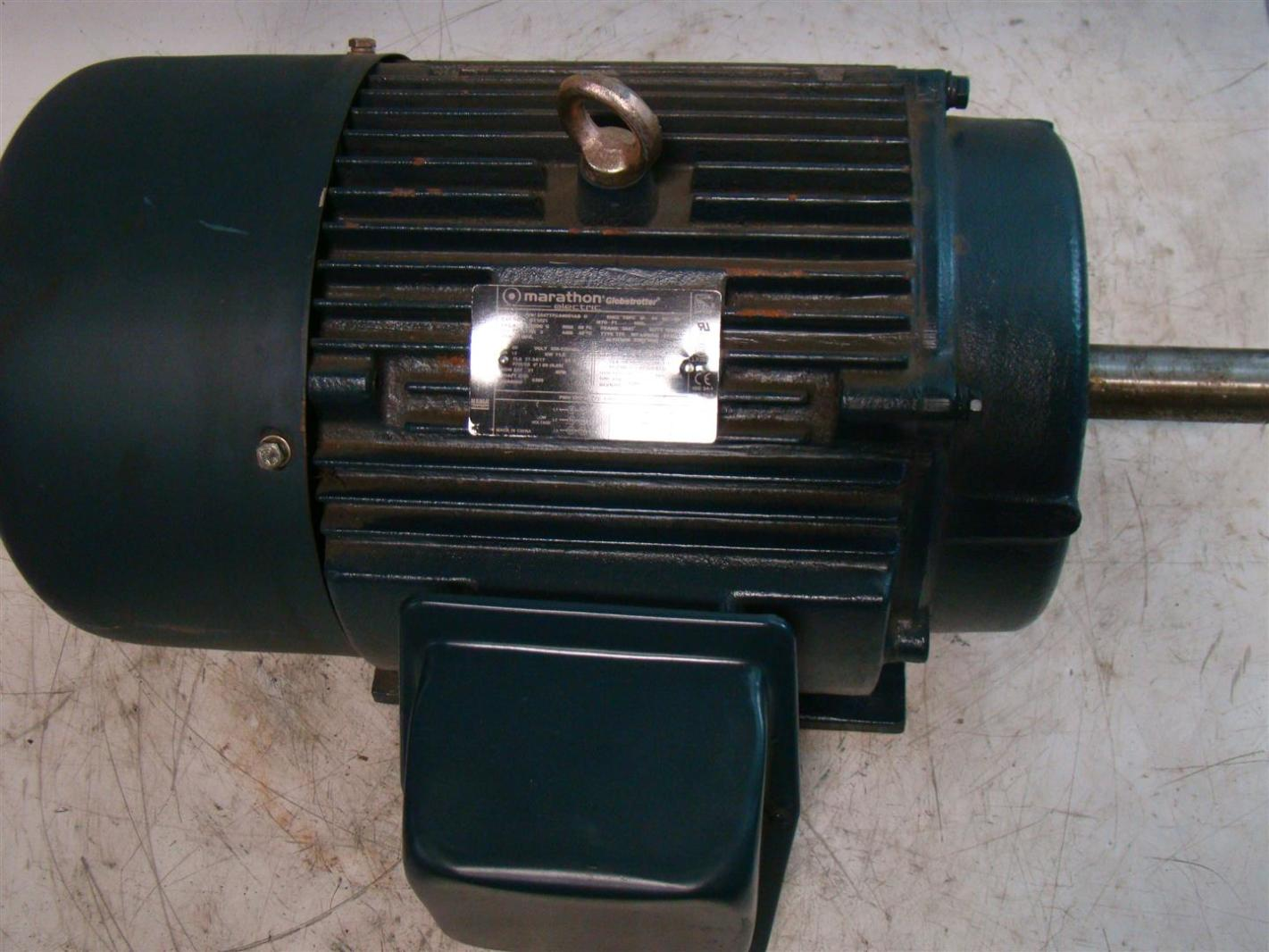 Marathon Electric 15hp Motor Globetrotter Ph3 208 230 460v