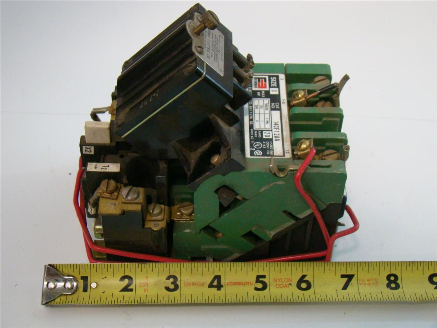Furnas electric size 0 motor starter 115 230v 1ph 20amps Furnas motor starter