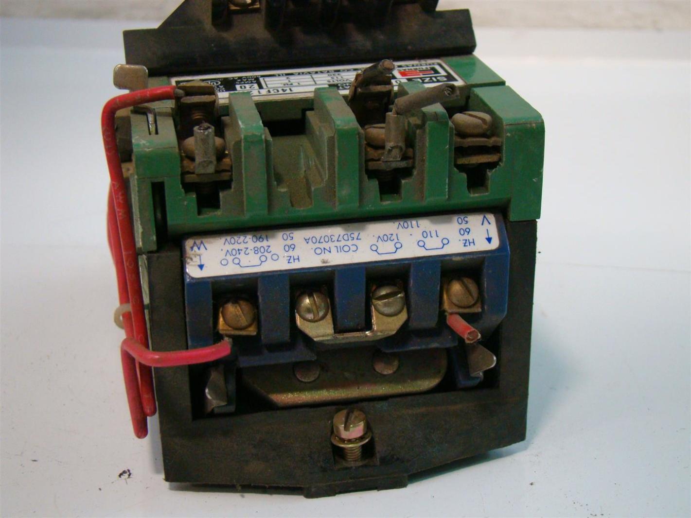 Furnas Electric Size 0 Motor Starter 115 230v 1ph 20amps