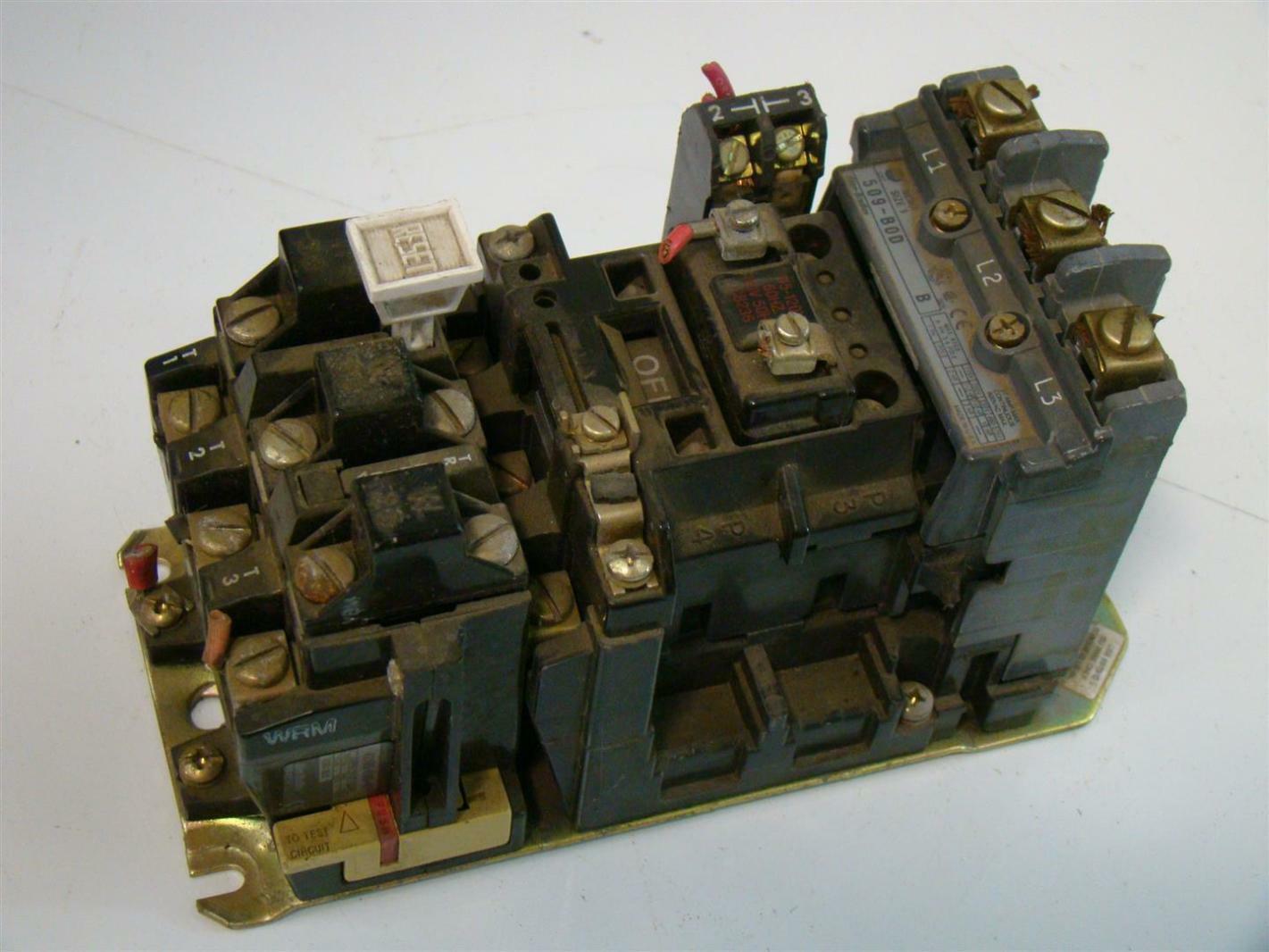 Allen Bradley Size 1 Motor Starter 115 200v 509 B0d Joseph Fazzio Incorporated