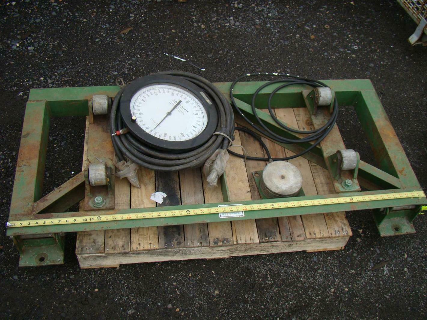 Hydraulic Lift Scale : Chlor scale hydraulic load cell d a ebay