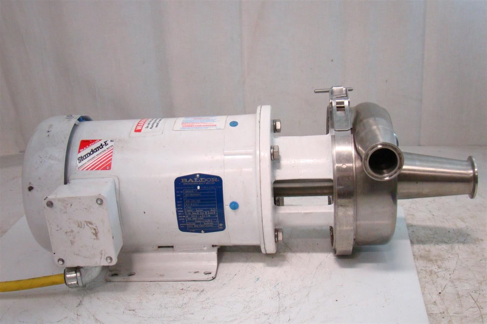 Thomsen Tri Clamp Sanitary Stainless Pump Baldor Motor