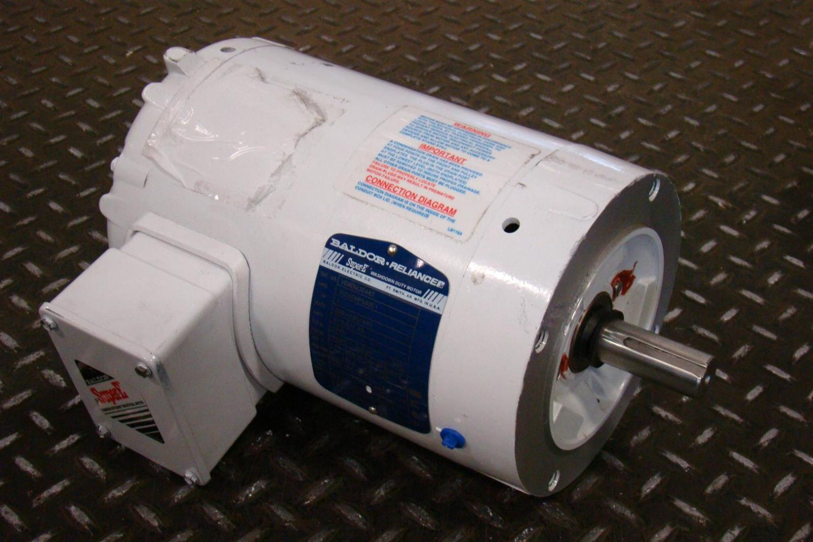Baldor reliancer washdown motor 1hp 230 460v 1745rpm 3ph for Baldor reliance motor parts