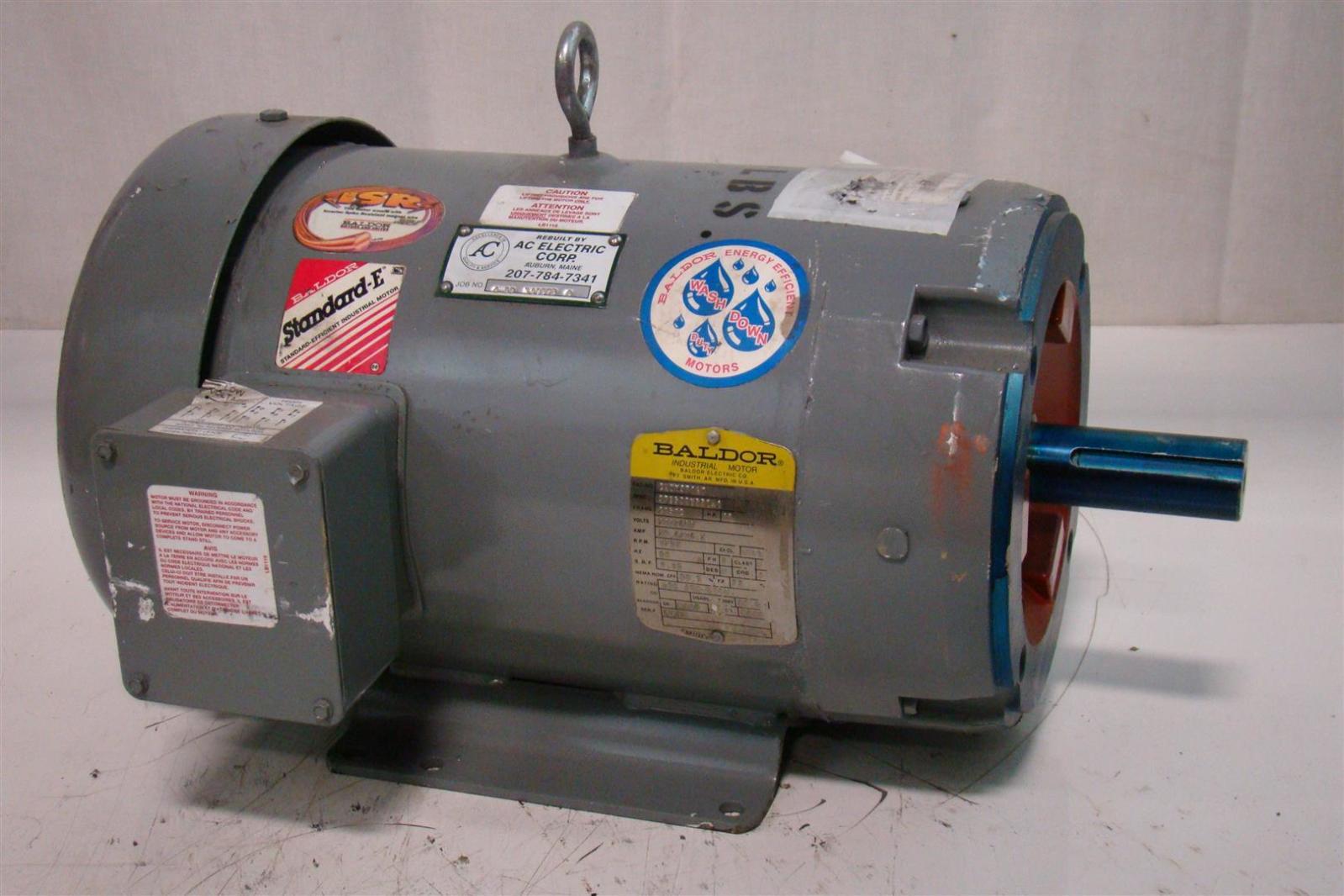 Baldor Motor 230 460v 10hp 1760rpm 28 4 14 2amp 3ph