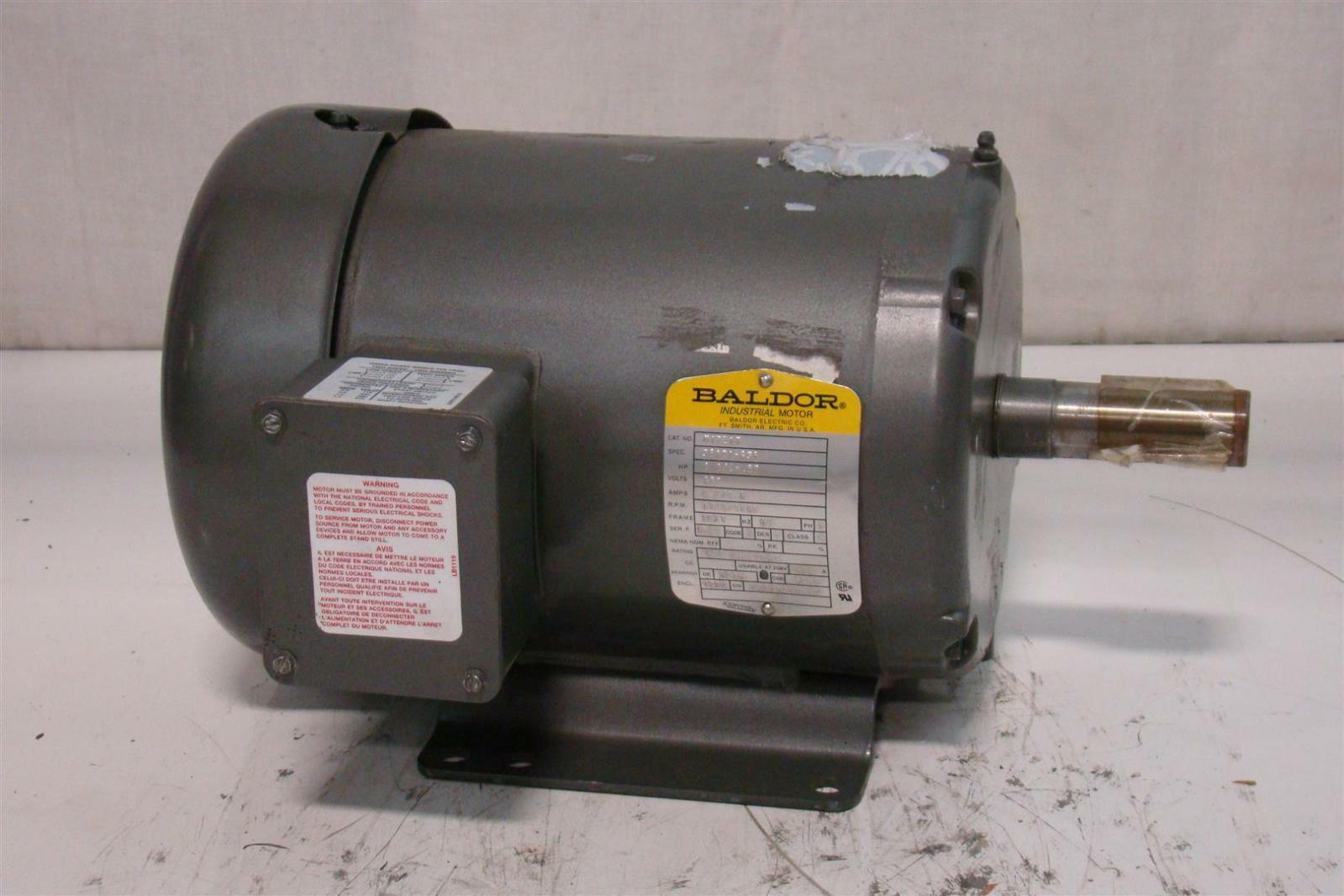 Baldor industrial motor 1 1 2hp 460v 1725 1140rpm m1721t for Baldor industrial motor parts