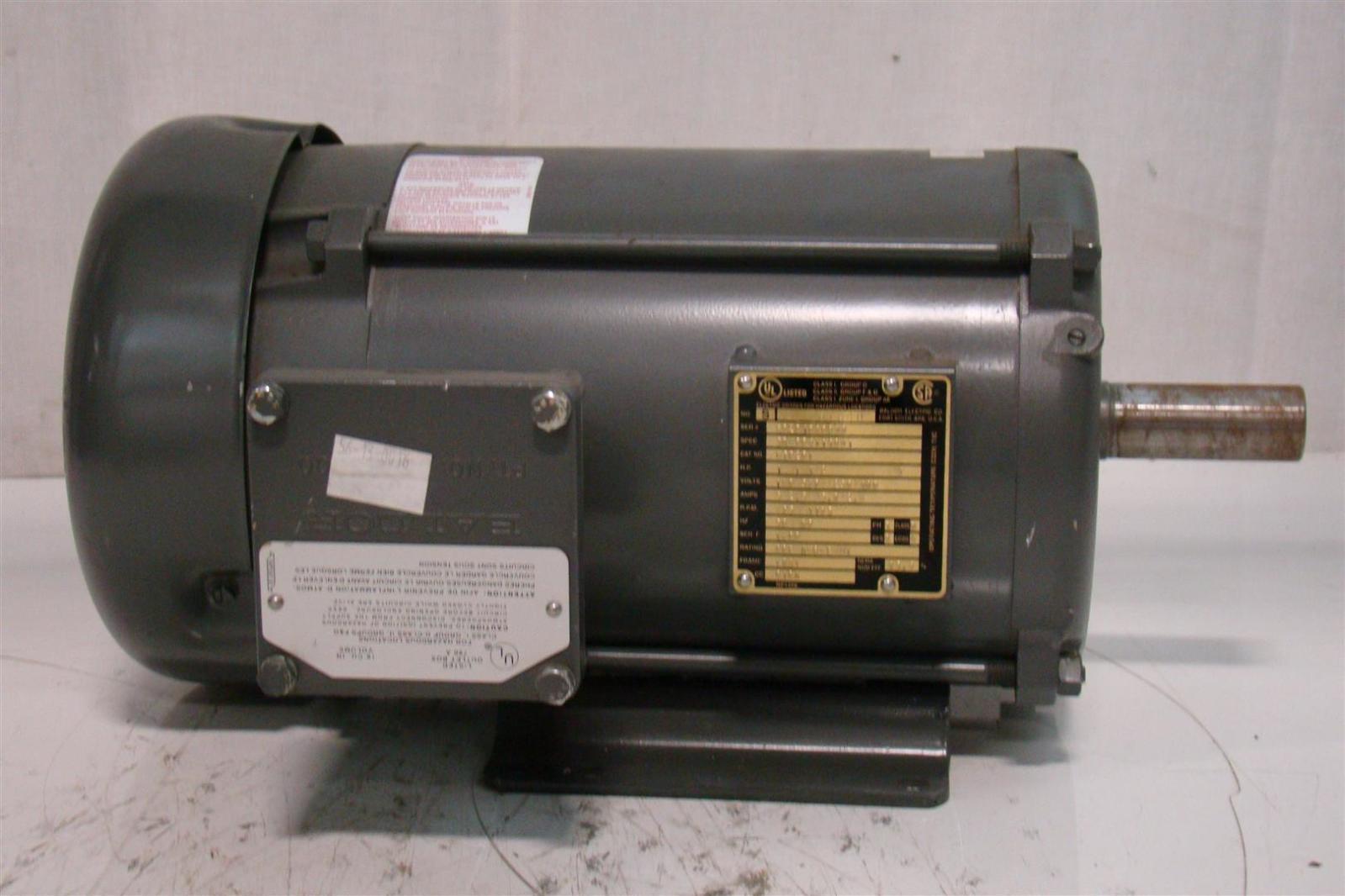 Baldor Electric Motor 1 1 2hp 230 460v 1165rpm F0201040699