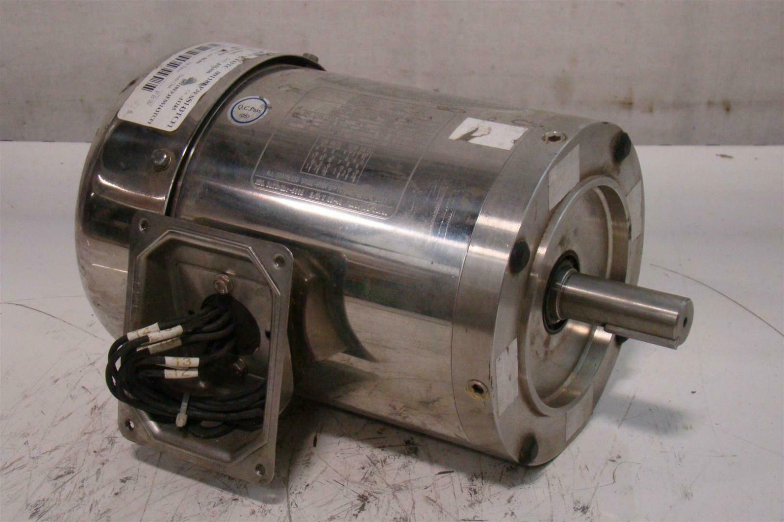 Weg Stainless Washdown Motor 1hp 230 460v 1740rpm 3ph