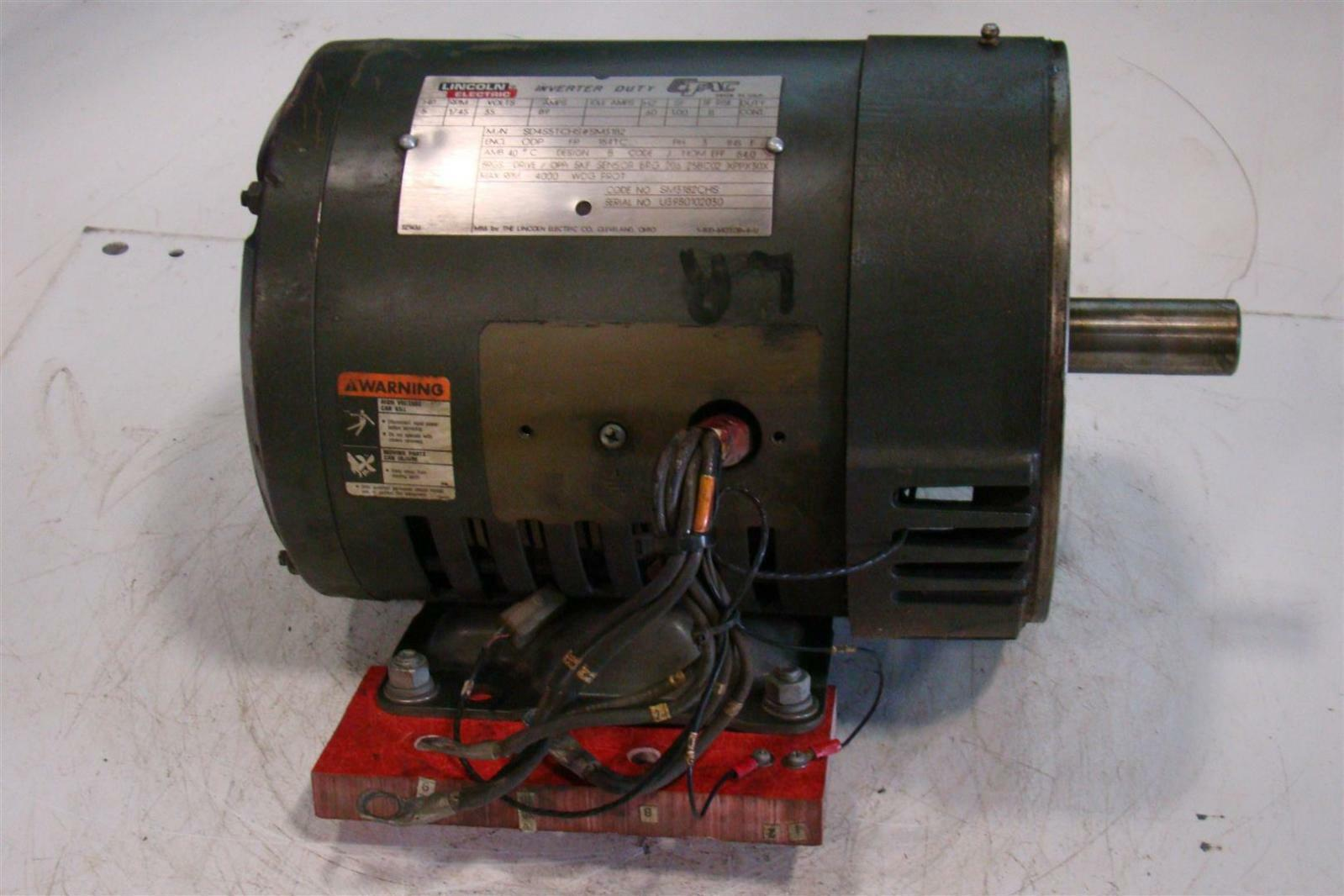 Lincoln Electric Motor 1745rpm 5hp 89amps 3ph Sd4s5tchs