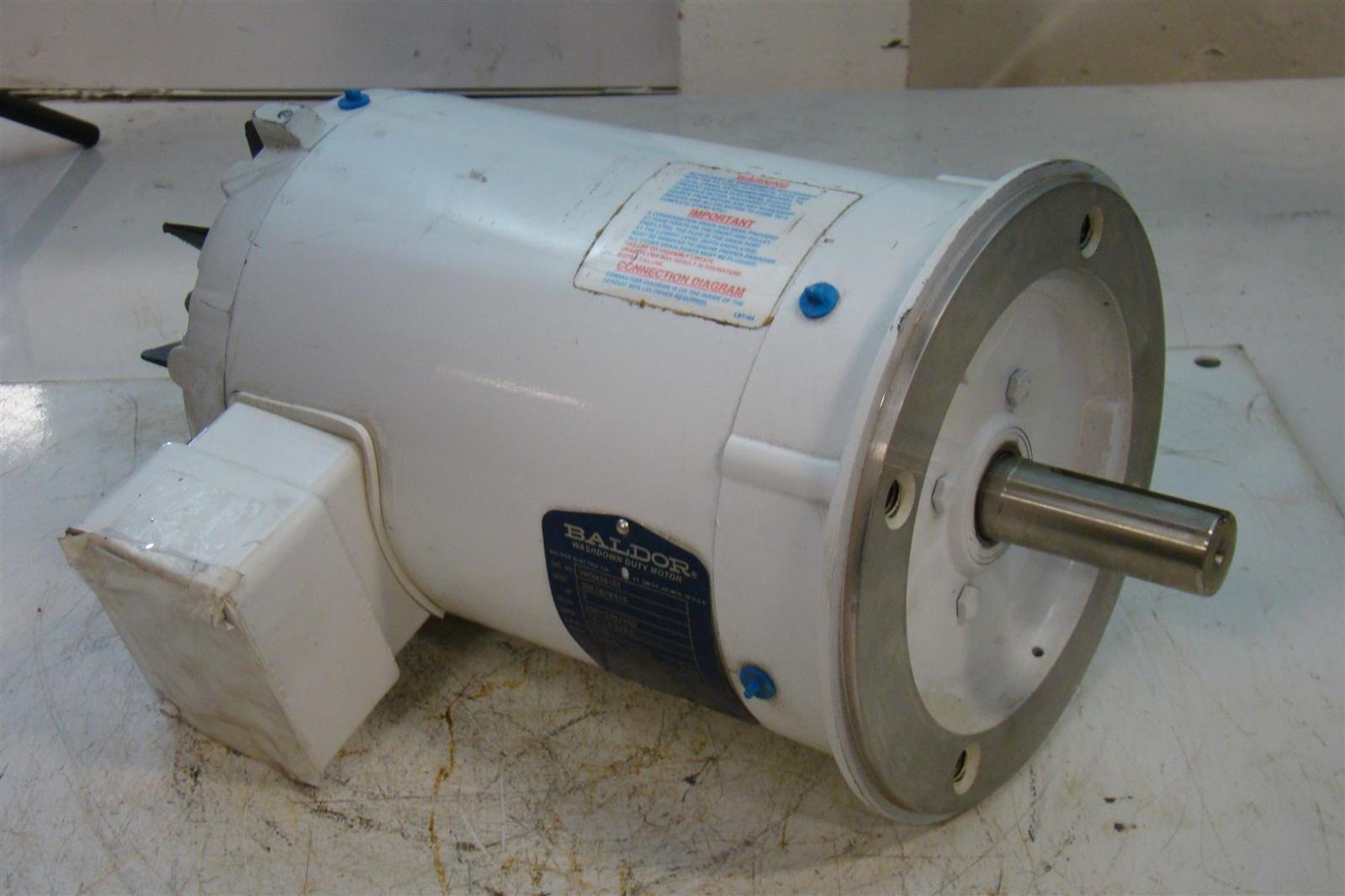 Baldor Washdown Reliancer Electric Motor 5hp 230 460v