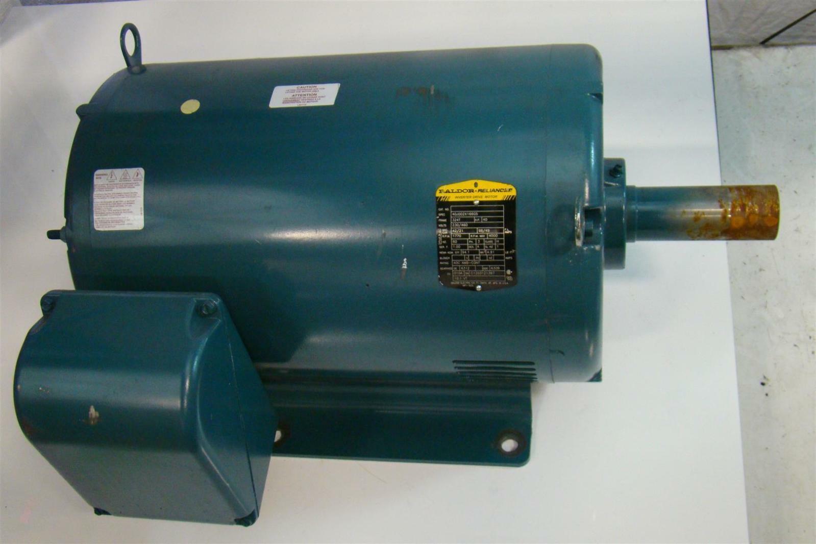 Baldor reliancer motor 230 460v 40hp 1770rpm ph3 for Baldor reliance motor parts