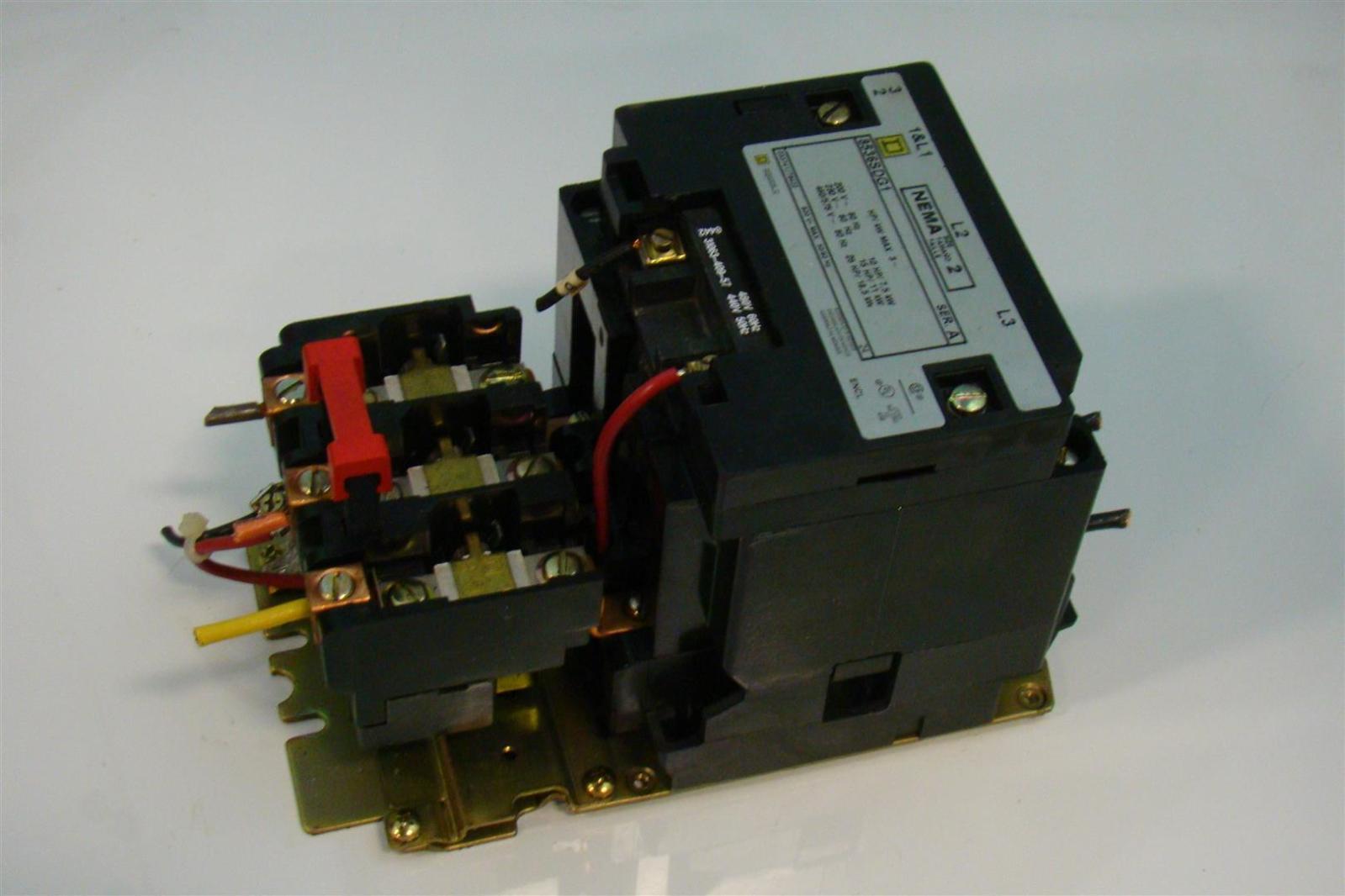Square d motor starter size 2 230 460 575v 10hp 15hp 25hp for Square d motor starter