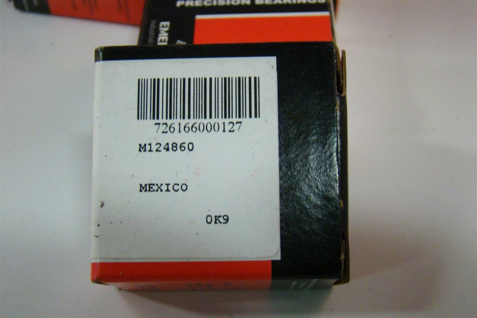 (4) Emerson McGill Precision Bearings Inner Race  MI 12 N M124860 MS 51962-5