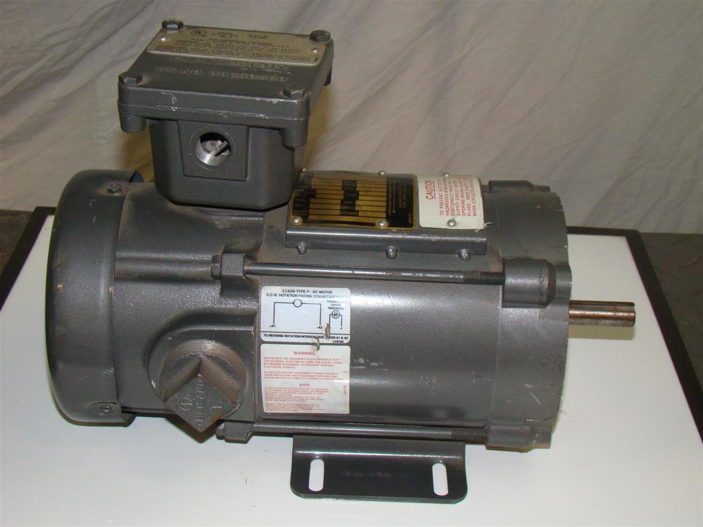 Baldor Hazardous Dc Motor 90v 1 4hp 1750rpm 34ep3705 F