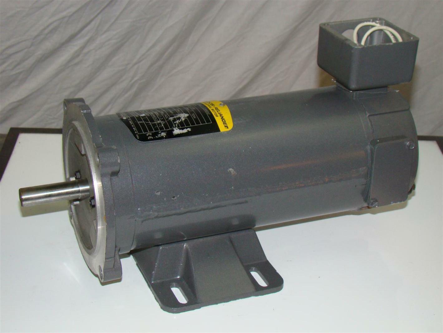 Baldor Reliancer Dc Motor 1 2hp 180v 1750rpm 56c Cdp3326