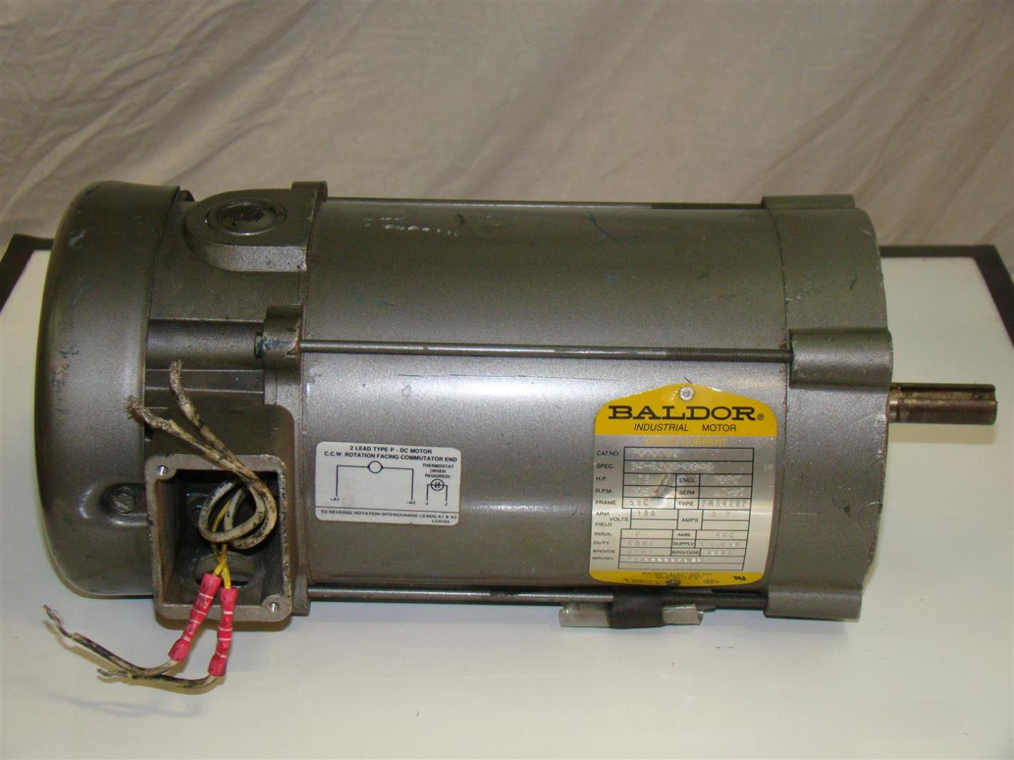 Baldor Dc Motor 75hp 1750rpm 180v 34 6208 3946 P010788