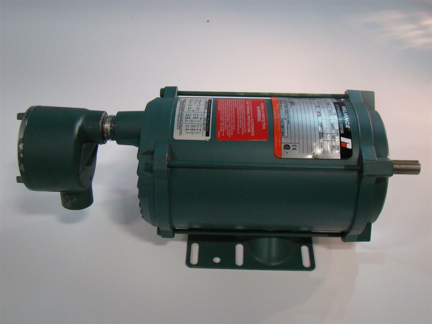Reliance Electric Motor 1725rpm 1 3hp 115 230v 5 8 2 9a