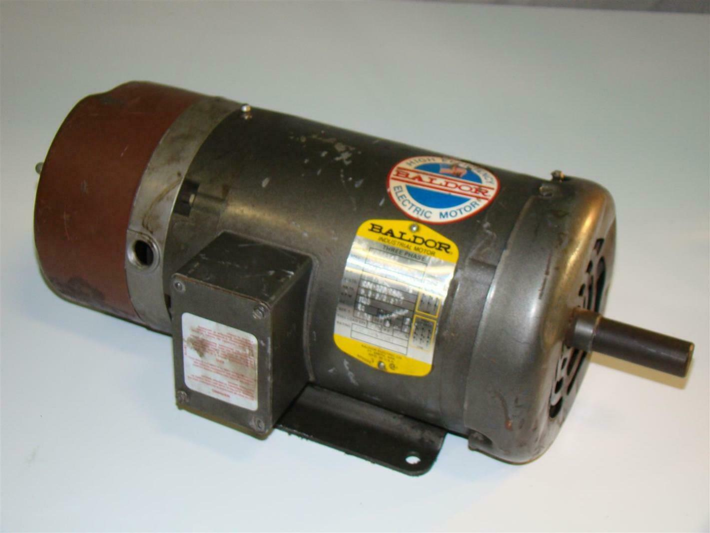 Baldor electric brake motor 1 1 2hp 230 460v bm3554t 145t for Baldor electric motor parts