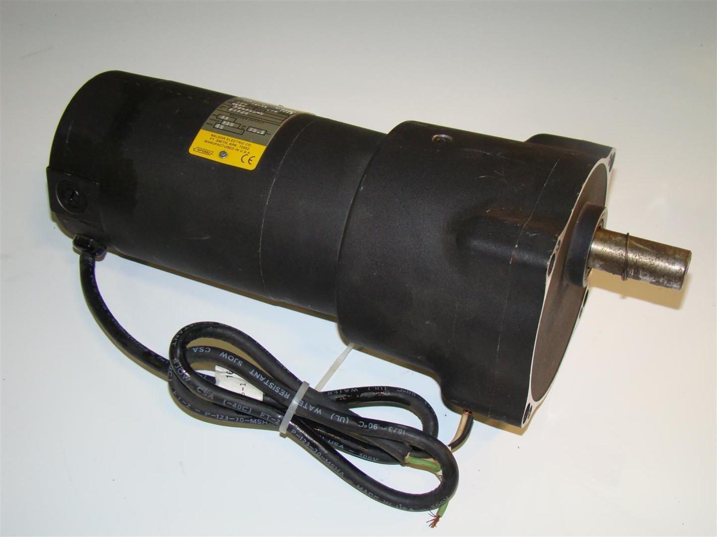 Baldor Electric Gear Motor 100vdc 1 4hp 60 1 42rpm Gpp7476