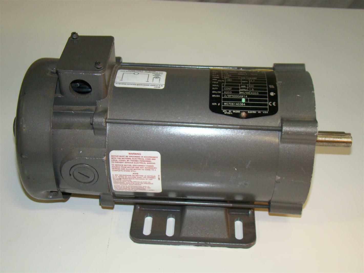 Baldor Electric Dc Motor 75hp 1750rpm 180v Cdp436