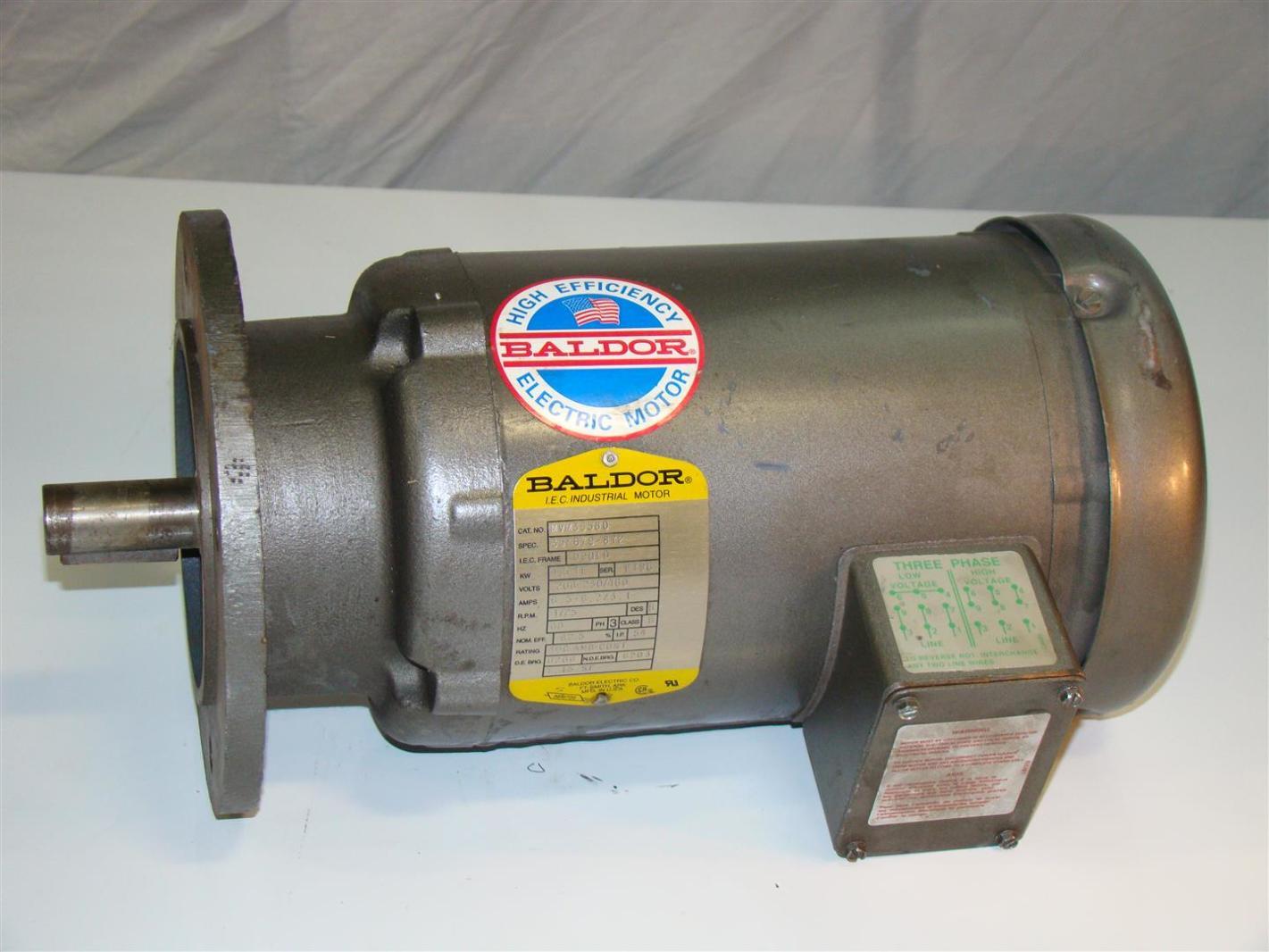 Baldor Electric Motor 2hp 1725rpm 230 460v 6 5a Mvm3558d