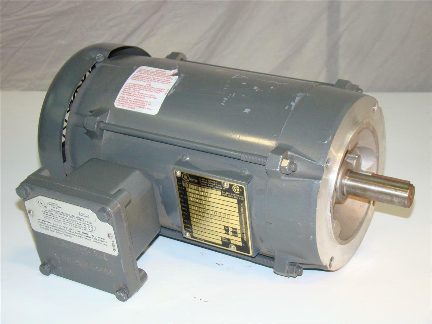 Baldor Hazardous Electric Motor 1 1 2hp 230 460v 1725rpm