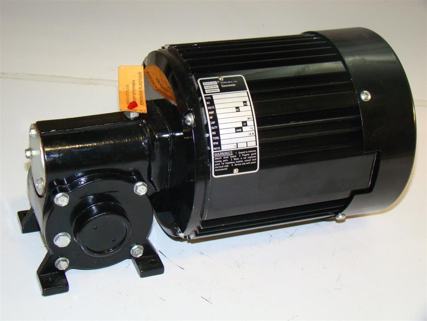 Bodine Electric Gearmotor 115 230v 1ph 1 3hp 48r6bfs1 5n