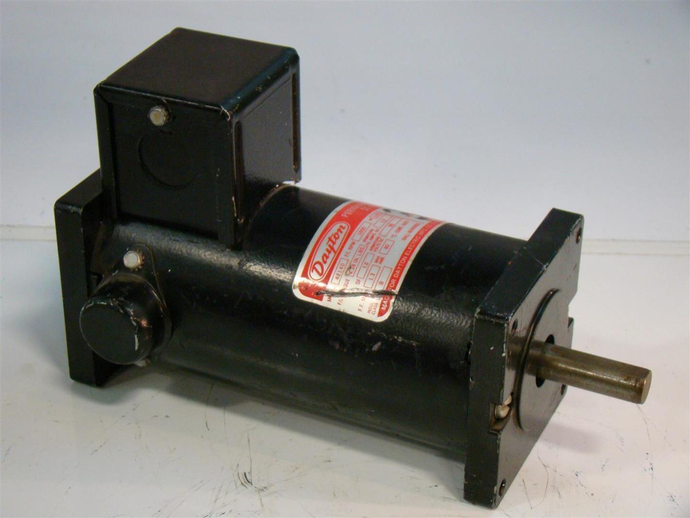 Dayton Dc Motor 1800rpm 1 8hp 90v 4z140 Joseph Fazzio