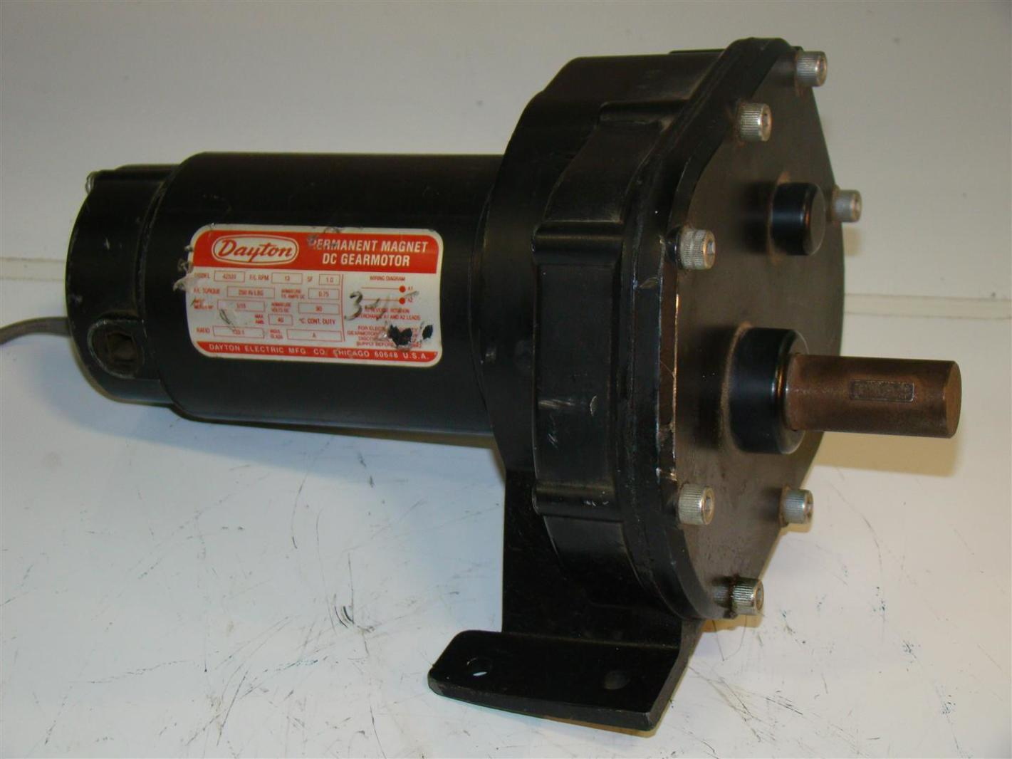 Dayton Dc Gearmotor 1 15hp 133 1ratio 4z531 Joseph Fazzio Incorporated