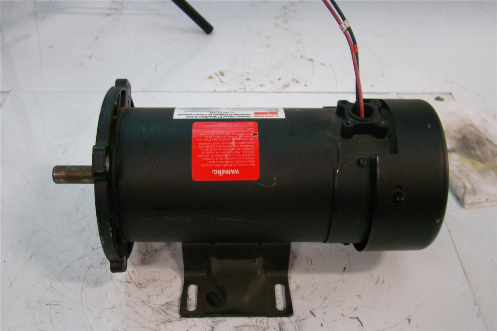 Dayton Permanent Magnet Dc Motor 1 2 Hp 1725 Rpm 180 Vdc