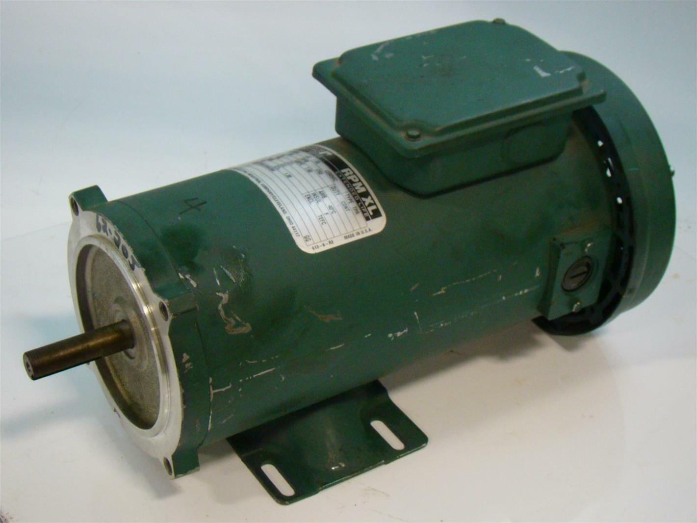 Reliance Electric Small Dc Motor 3 4hp 1750rpm 90v 7