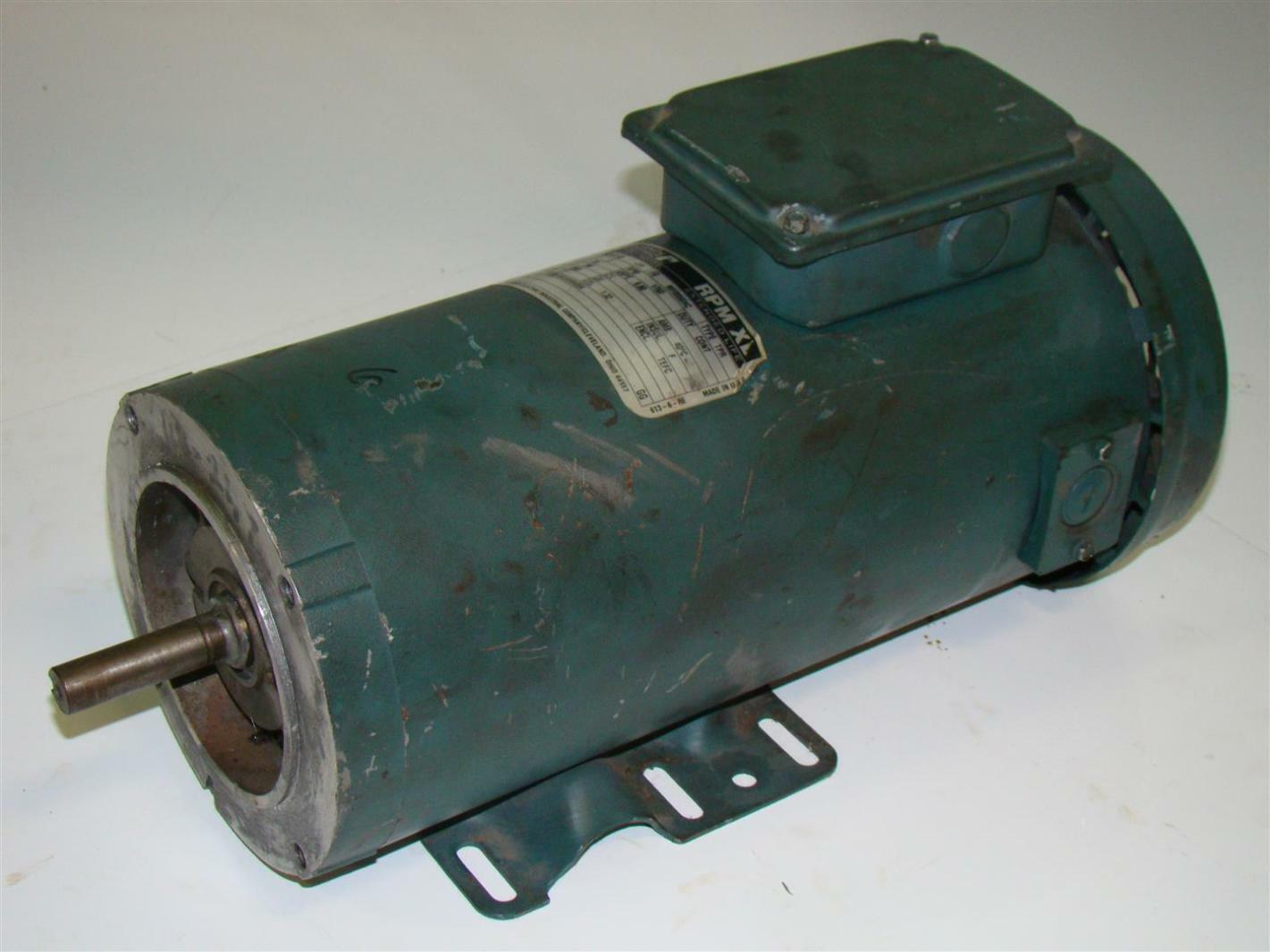 Reliance electric small dc motor 1hp 1750rpm t56s1011b ebay for Reliance electric motor parts