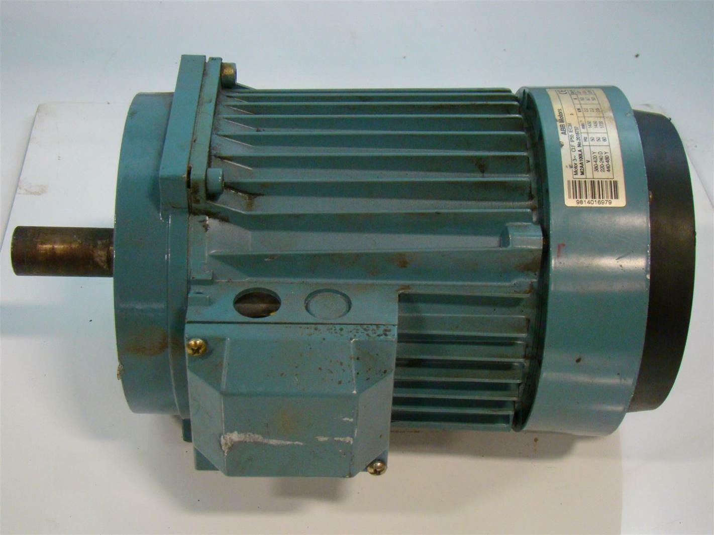 Abb Motors Electric Motor Ph3 380 420v M2000 2016737 M2aa100la