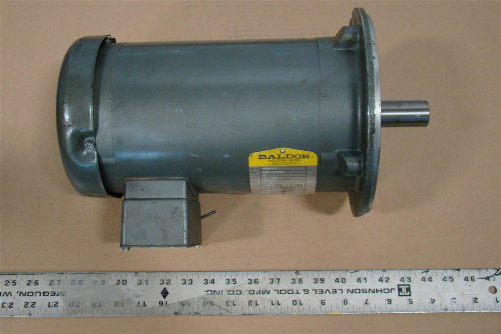 Baldor industrial motor 3hp 230 460v 3phase vm3611t ebay for Baldor industrial motor parts
