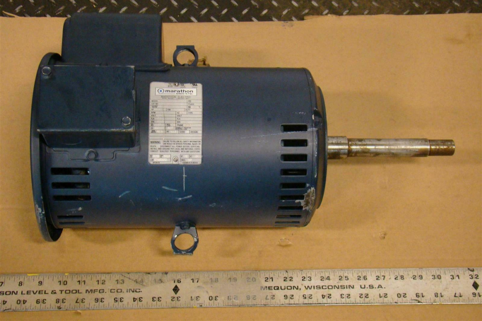 Marathon electric 7 5 hp motor 230v 3515 rpm single phase for 10 hp single phase motor