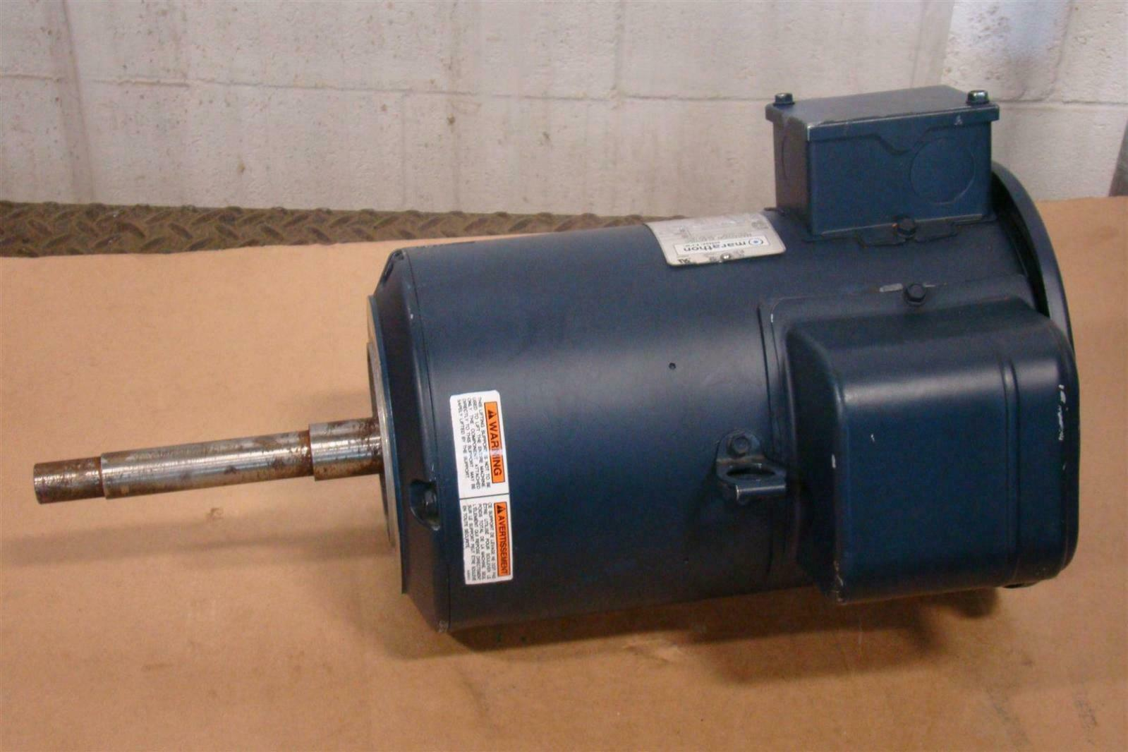Marathon electric 7 5 hp motor 230v 3515 rpm single phase for 5 hp single phase motor
