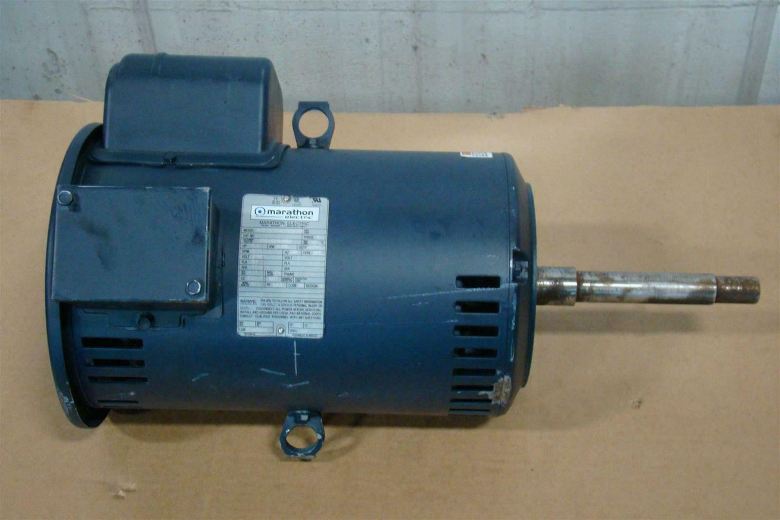 Marathon electric 7 5 hp motor 230v 3515 rpm single phase for Marathon electric motors model numbers