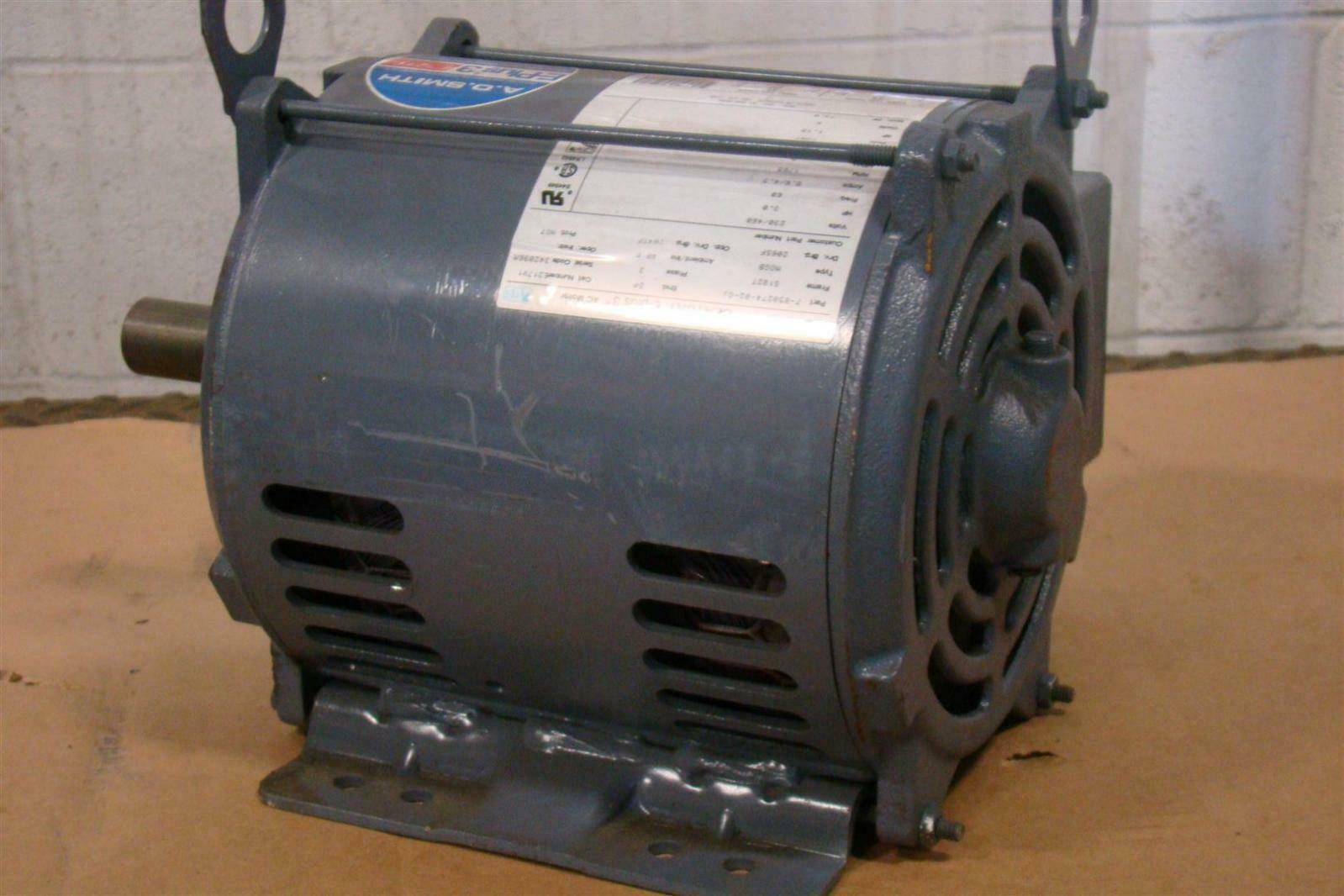 Ao smith 3 hp electric motor 230 460 volt 1765 rpm fr for 3 hp electric motor