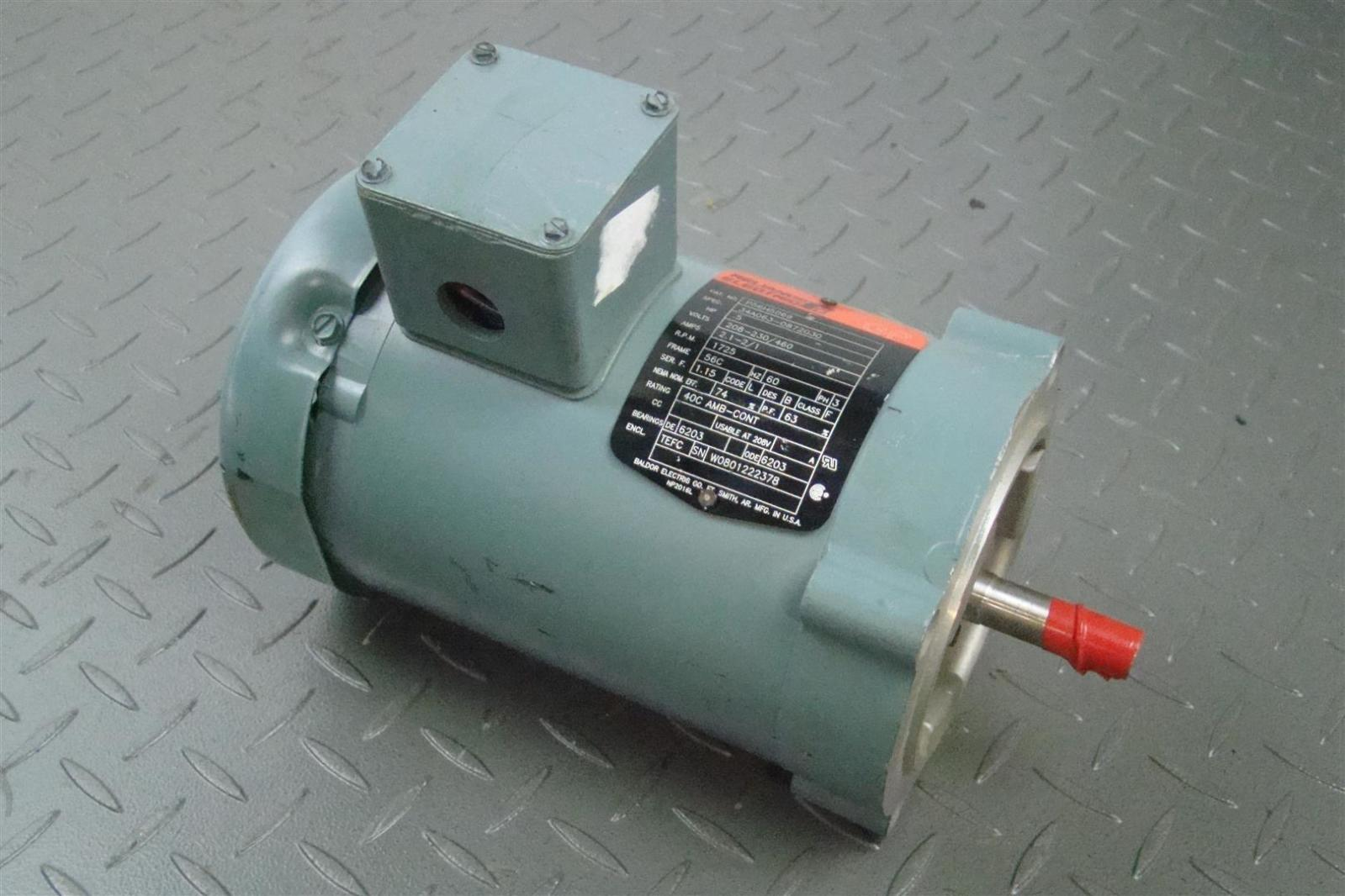 Reliance electric baldor motor p56h5069 1 2 hp 56c 1725 for Reliance electric motor parts