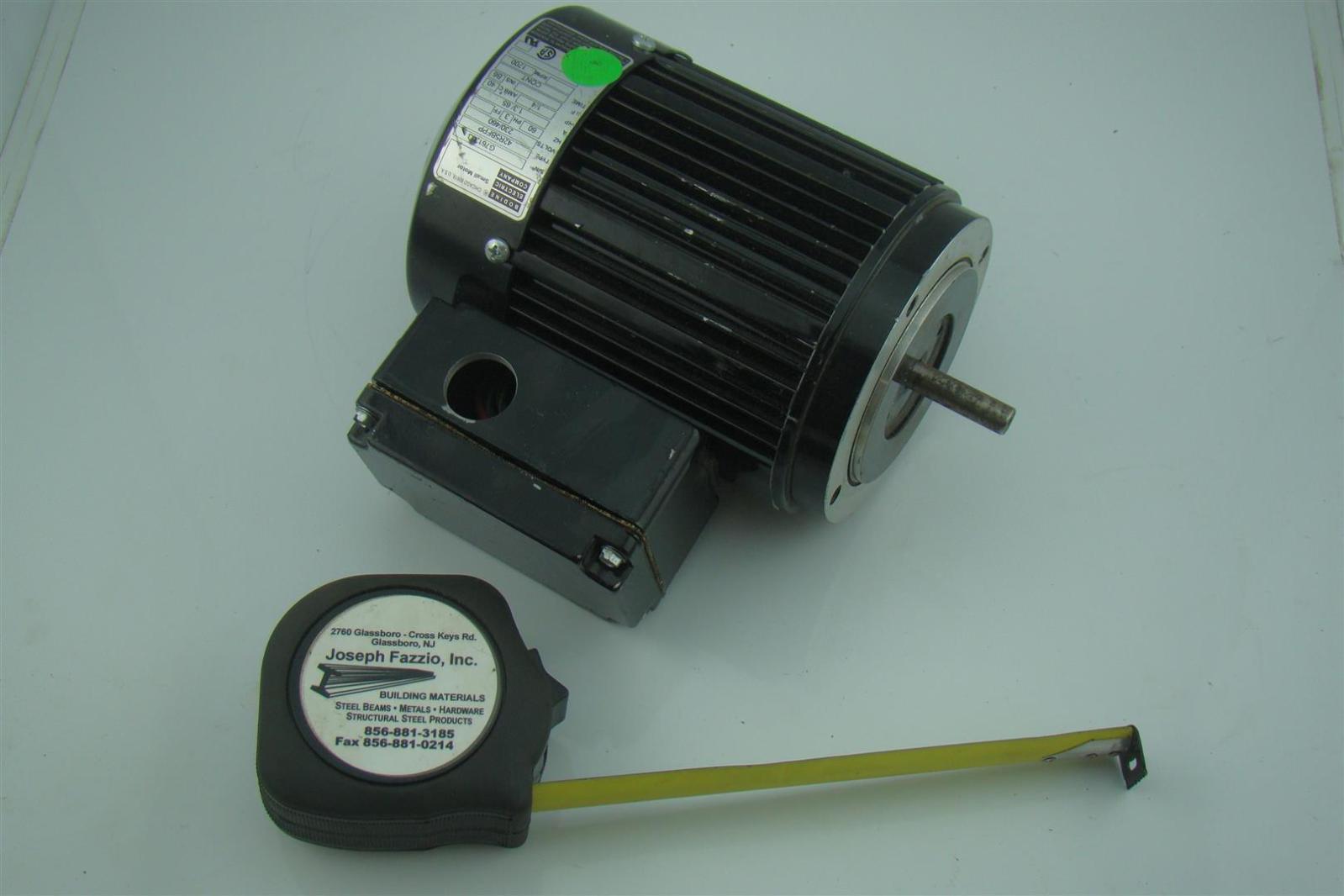 Bodine Electric Co 1 4 Hp 3 Ph Electric Motor 1700 Rpm