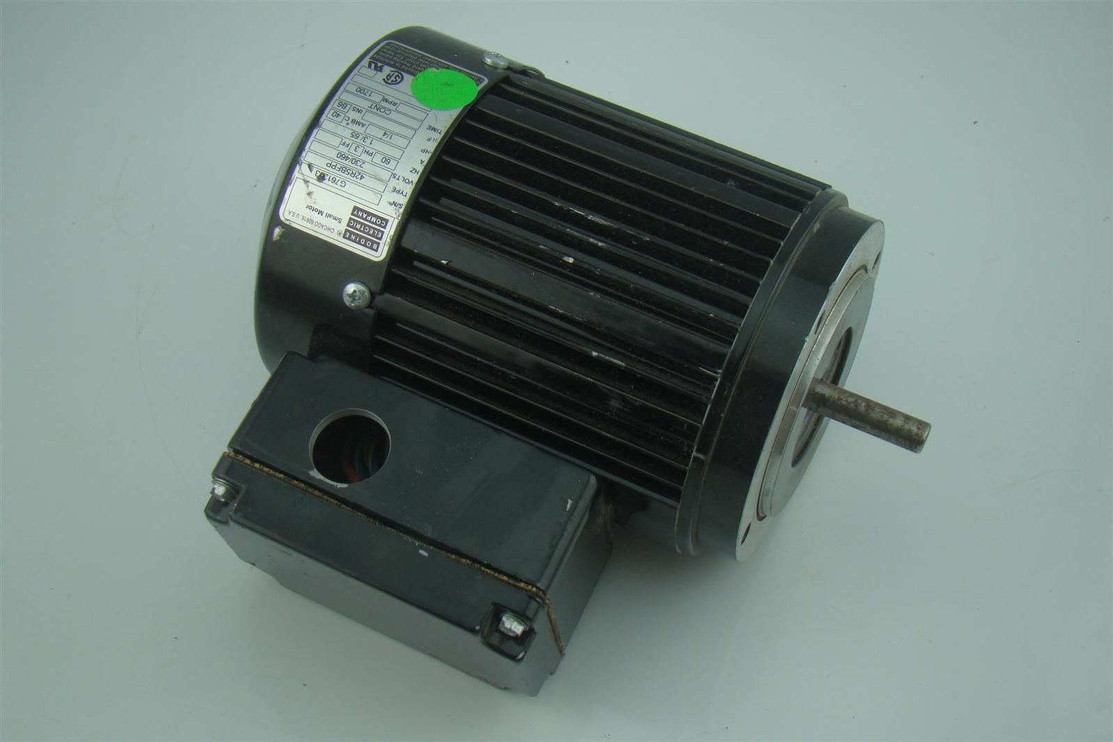 Bodine Electric Co 1 4 Hp 3 Ph Electric Motor 1700 Rpm
